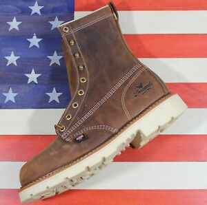 Thorogood-8-034-American-Heritage-Safety-Plain-Steel-Toe-Boots-804-4379-MADE-IN-USA