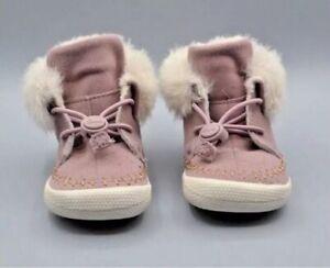 e49d73f9 NEW CLARKS Doodles Girls Cuba Evie Pink Slippers/Shoes Booties - UK ...