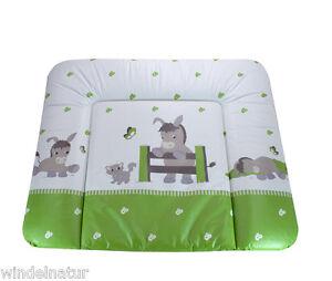 Baby Wickelauflage Esel grün Mulde Supersoft 72x85 cm ÖkoTex Wickeltisch Donkey