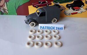 Lot-de-12-Pneus-15-8-blanc-JRD-DINKY-TOYS