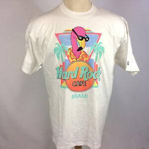 wie man wählt sehr bequem größte Auswahl von 2019 Details about Minty Vintage 80s 90s Hard Rock Cafe Miami Flamingo Beach  Surf Club T Shirt