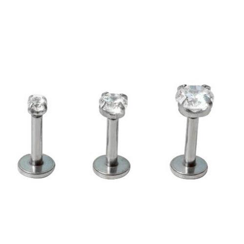 2X Round Tragus Lip Ring Monroe Ear Cartilage Stud Earring Body Piercing BDAU
