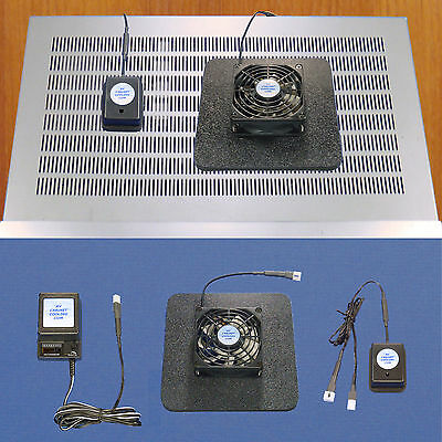 AV RECEIVER/AMP/DVR cooling fan w/thermoswitch module / multi-speed control