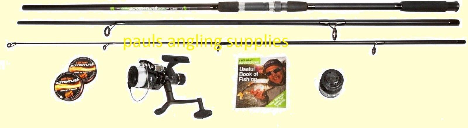 Matt Hayes Adventure 12 Ft Carp Fishing  Rod With Reel Line Combo