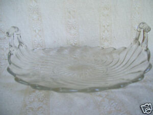 Vintage-Fostoria-Colony-Crystal-Clear-Glass-Round-Muffin-Tray-9-3-4-034-Dish