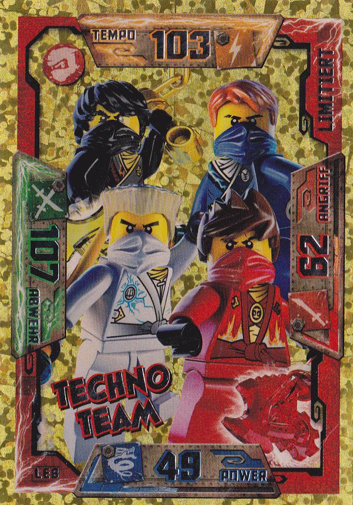 NINJAGO LEGO TRADING CARDS SAMMELKARTEN 1° SERIE . N° 10 SPECIAL CARDS LE8
