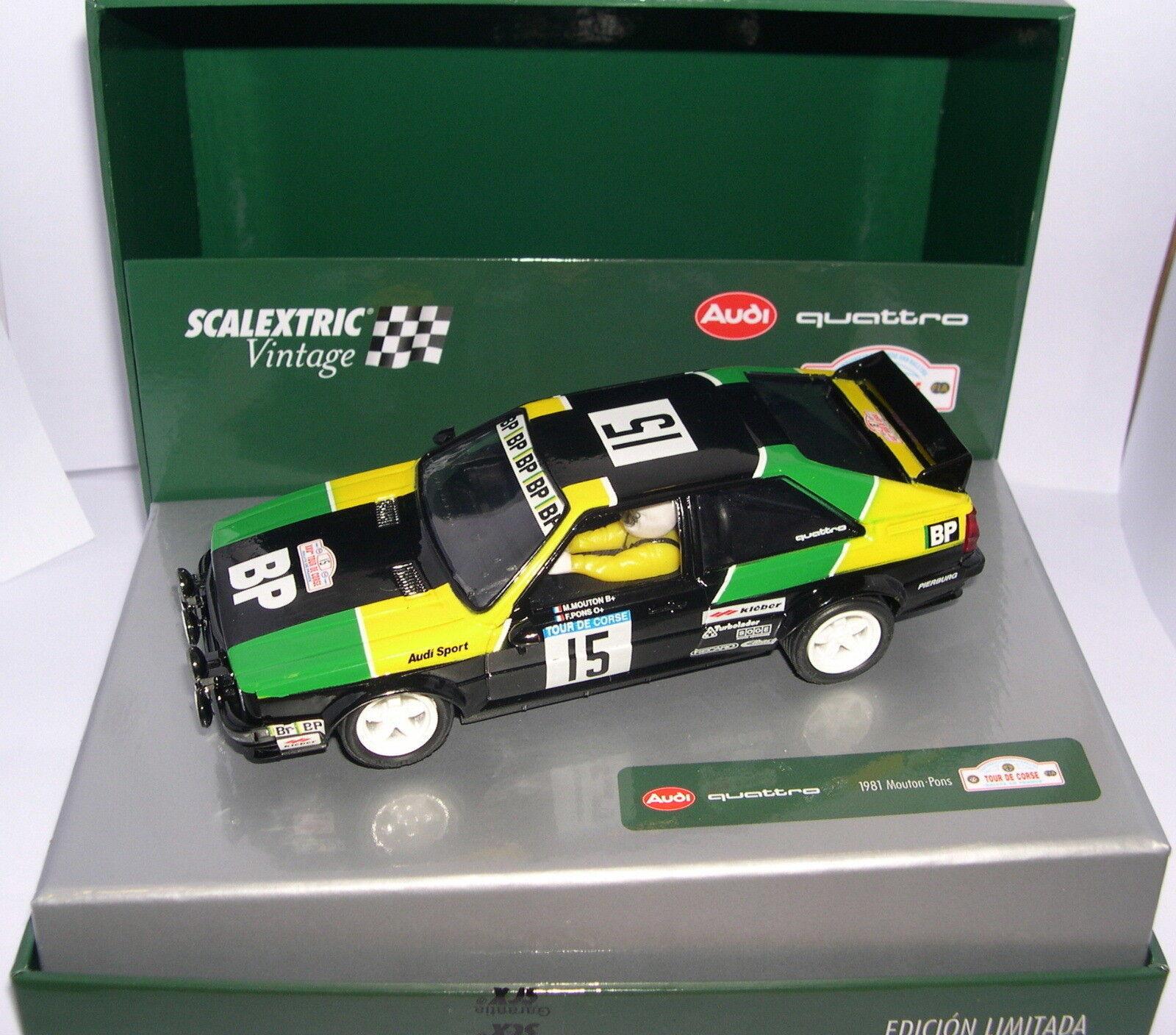 Scalextric A10148S300 Audi Quattro  15 Tour Corse 1981 Mouton-Pons Vintage MB