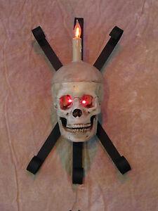 Halloween Wall Lights : Skull Wall Sconce, Halloween Prop Human Skulls/Skeleton eBay