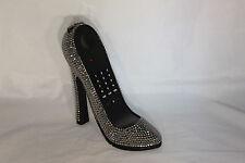 High Heel Shoe Telephone with Rhinestone Bling in Metallic Silver N 296