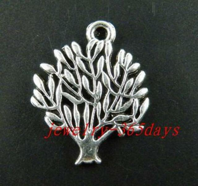 30pcs Tibetan Silver Nice Tree Charms Jewelry DIY 20x17mm