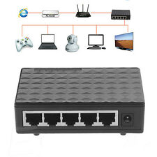 DC 5V 5 port RJ-45 10/100/1000 Gigabit Ethernet Network Switch Auto-MDI/MDIX Hub