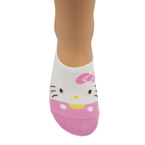 Ankle Hello Low Casual Piumino Cut antiscivolo Kitty Donna Socks Lot Soft Pink H1rqYHw