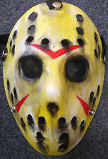 Friday The 13th Jason Vorhees Hand Painted Custom Cosplay Movie Hockey  Mask