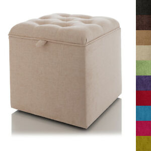 Image is loading STORAGE-FOOTSTOOL-BUTTONED-OTTOMAN-BLANKET-BOX-SEAT-POUFFE- a8f79cf0a746