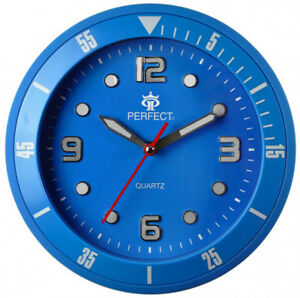 PERFECT-Designer-039-s-Wall-Clock-Silent-Sweep-Second-Hand-BLUE