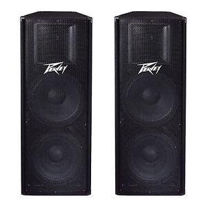 Peavey-PV215-2-Way-2800-Watt-Dual-15-034-PA-Full-Range-DJ-Speakers-PV-215-2-Pack