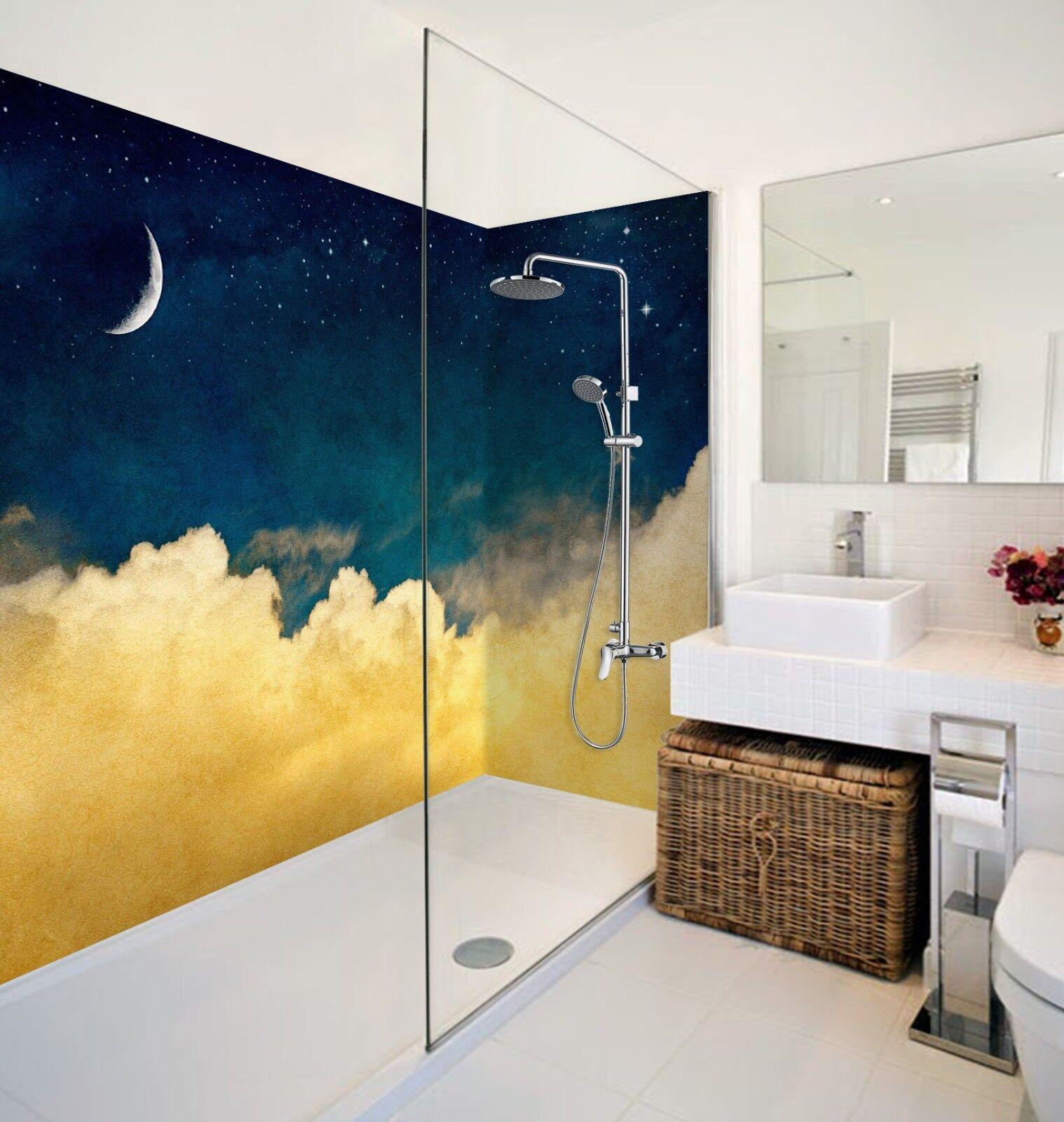3D Moon Clouds 452 WallPaper Bathroom Print Decal Wall Deco AJ WALLPAPER AU