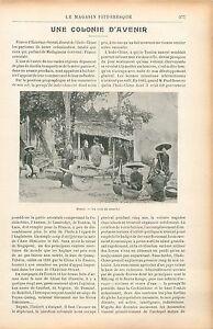 Marche-de-Hanoi-Tonkin-Cochinchine-Viet-Nam-Cambodge-Laos-GRAVURE-OLD-PRINT-1906