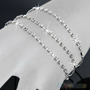 Responsible Elegant Rhinestone Anklet Costume Jewellery ankle Bracelet,foot Chain,brand New