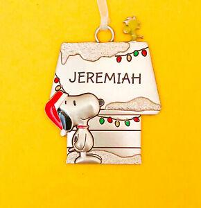 Hallmark Peanuts Snoopy Personalized Ornament Name ...