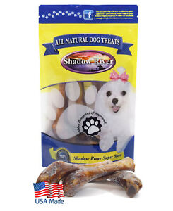Shadow River Lamb Shank Dog Bones - 5 Pack Regular Size Natural Chew Treats