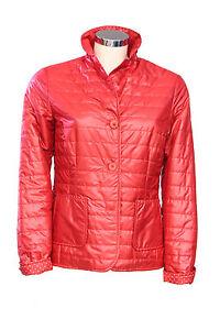 Giacca-da-donna-rosso-Forza-9-manica-lunga-bottoni-tasche-casual-moda