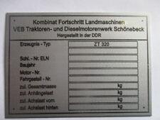 Typenschild Traktor Fortschritt ZT 300 Schild VEB DDR Schönebeck S51
