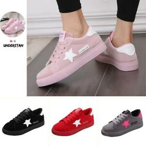 Women Lace Up Sport Running Sneakers Breathable Trainers Shoes Casual Shoes LG