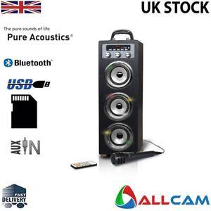 Pure-Acoustics-Portable-Karaoke-Machine-w-Mic-for-Smartphone-iPod-iPhone