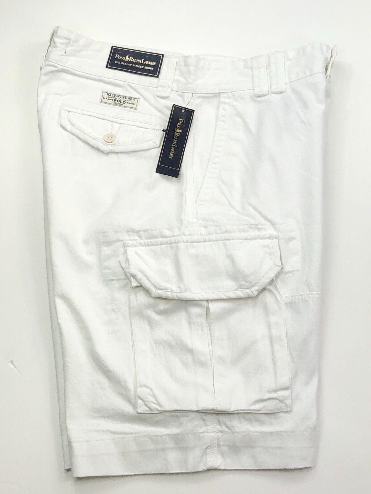 Ralph Lauren White Cargo Short (W32-W40)