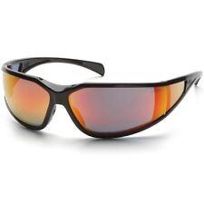 Pyramex Exeter Safety Glasses Sky Red Mirror Anti-Fog Lens