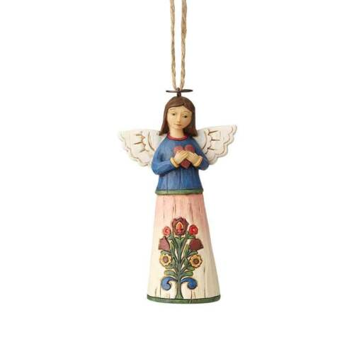 Jim Shore New 2018 FOLKLORE ANGEL WITH HEART HANGING ORNAMENT 6001455