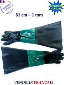 PAIRE DE GANTS SABLAGE 61cm POUR MICROBILLEUSE SABLEUSE