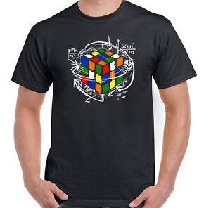 Rubik-039-S-CUBE-equazioni-da-Uomo-Divertente-T-Shirt-Retro-Rubix-anni-039-80-Puzzle-Sheldon-Cooper