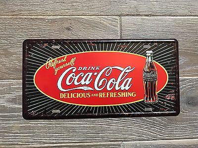 Classic Coca Cola Hospitality Metal Advertising Sign Vintage Retro Drink Plaque
