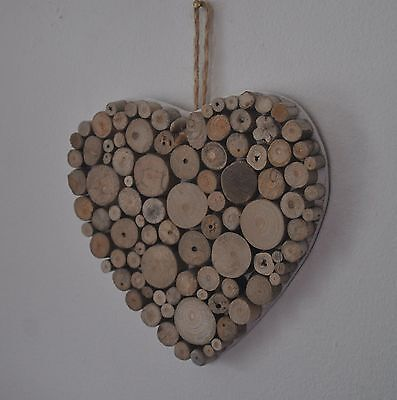 Driftwood Heart Bathroom Shabby Chic Hand Crafted Charm Home Decor 5.5/""