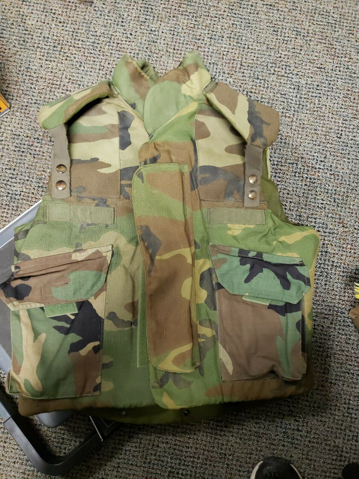 1980 body armor, fragmentaion predective  vest, ground troops small  fishional store for sale