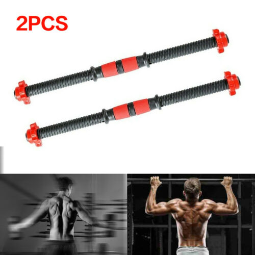 2X Dumbbell Bars /& Spinlock Collars Weight Lifting Gym Dumbell Handles Kit