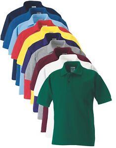 Russell-Jerzees-539B-65-35-Polycotton-Boys-Girls-Sports-School-Polo-Shirt