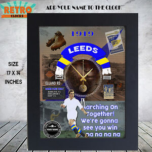 Personalised-Retro-LEEDS-UNITED-football-supporters-Metal-Clock