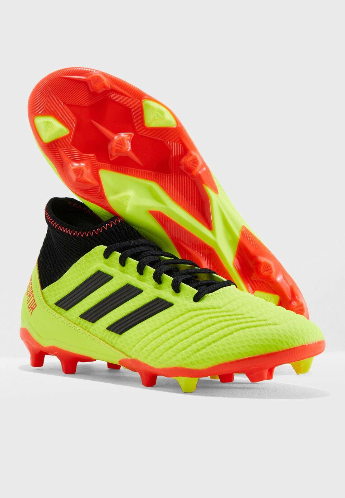 Señores fútbol galerías adidas projoator 18.3 flexible suelo zapatillas amarillo