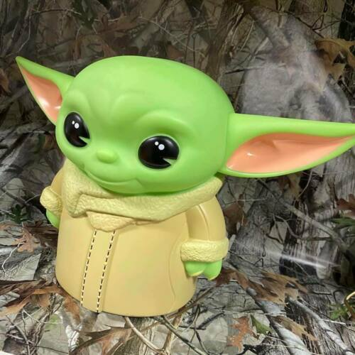 Monogram Baby Yoda THE CHILD Figural Busted Bank Molded Coin Piggy Bank