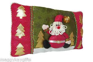 Glitzer Santa Weihnachten Kissen - rot NEUHEIT Wohnzimmer Dekoration ...