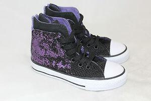58036de8030bde Girls Juniors Converse All Star CT Purple Hi Top Hollyhock Sneakers ...