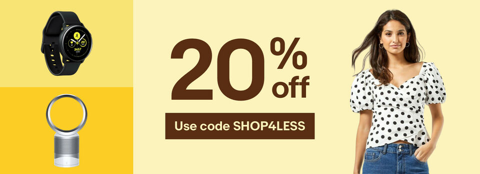 Use code SHOP4LESS - Grab 20% off! It's your chance to save.