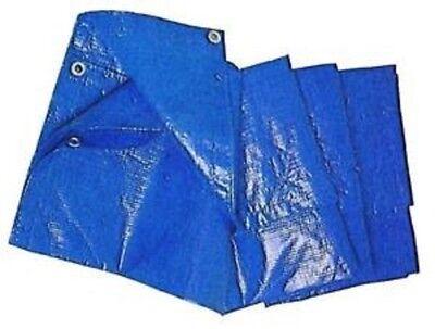 Telo copritutto telone occhiellato 4x5 blu antiforo for Telo multiuso per auto
