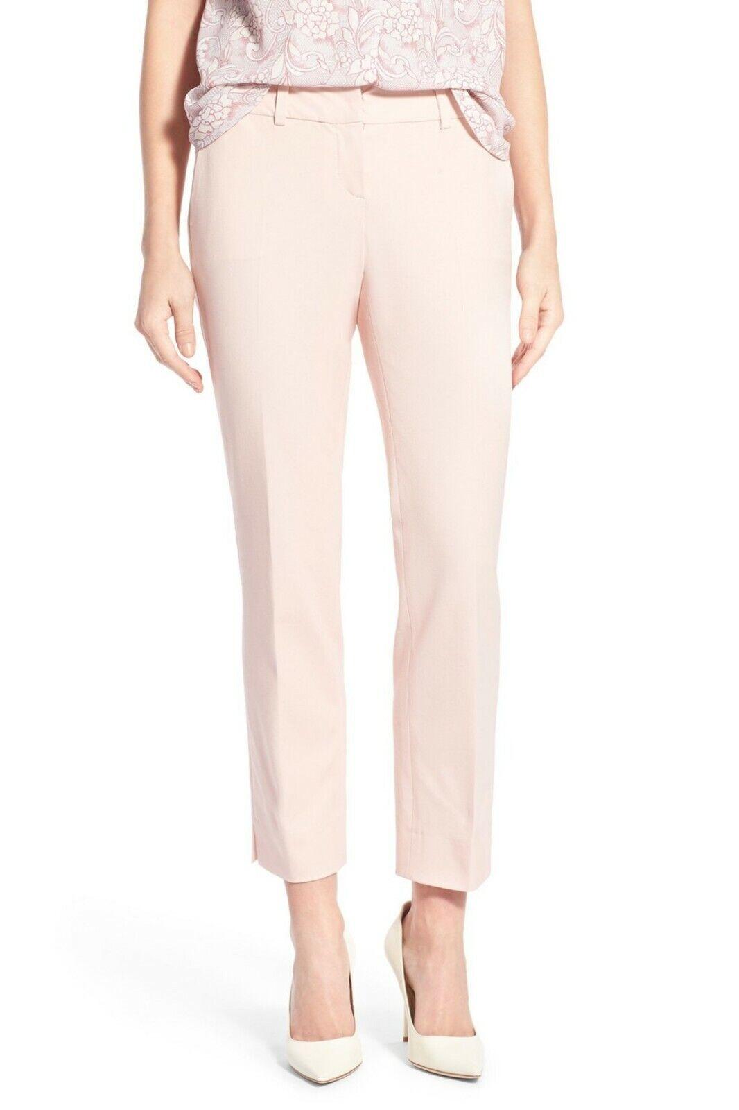 NEW Halogen Soft Pink Stretch Cropped Pants Cotton Blend Sz 8 NEW