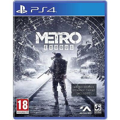 Metro Exodus PS4 BRAND NEW SEALED PLAYSTATION 4 (ENGLISH) EU