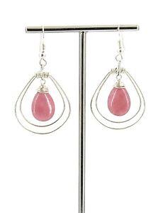Ornate Filigree//Cut Out Teardrop Sterling Silver French Wire Earrings 7//8 inch