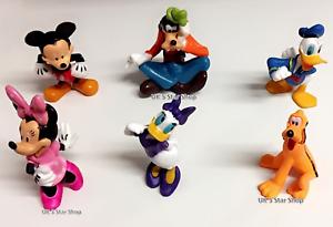 Mickey-Mouse-Clubhouse-6Pcs-Conjunto-de-coleccion-de-figuras-de-juguetes-de-PVC-Playsets-Cake-Topper